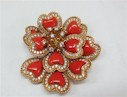 Before After Jewelry Remodeling Coral Brooch